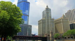 Trump Tower and the River Stock Footage