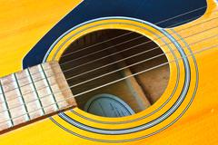 Abstract acoustic guitar Stock Photos