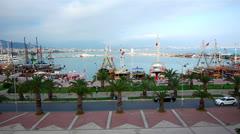 Panoramic view to Alanya, Turkey Stock Footage