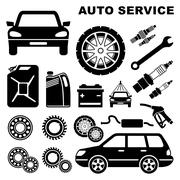 Car repair service icon Stock Illustration