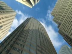 Skyscrapers and Sky Timelaps - stock footage