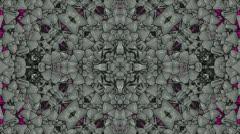 Plastic flower pattern,gorgeous orient religion fancy. Stock Footage