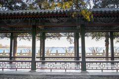 The long corridor  in summer palace, beijing Stock Photos