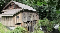 Cedar Creek Grist Mill is a historic grain grinding mill in Washington Stock Footage