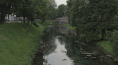 Treviso, Italy - Sile river _2 Stock Footage