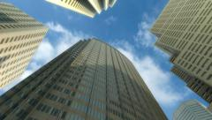 Skyscrapers and Sky Timelaps Stock Footage