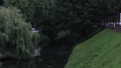 Treviso, Italy - Sile river Stock Footage