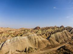 Danxia landform in zhangye, gansu of china Stock Photos