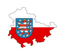 Thuringia region map Stock Illustration