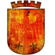 potsdam coat of arms - stock illustration