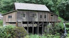 Historic Cedar Creek Grist Mill in Woodland Washington 1080p Stock Footage