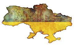 Stock Illustration of ukraine flag on territory