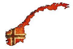 norway flag on territory - stock illustration
