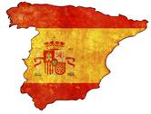 Stock Illustration of spain flag on territory