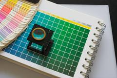 Stock Photo of Color guide spectrum swatch samples rainbow for graphic designer and printing