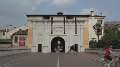 Treviso, Italy - City gates Stock Footage