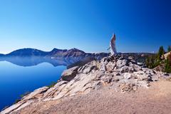 Crater lake national park, oregon, united states Stock Photos