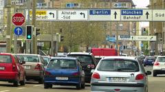 T/L Nuremberg traffic Autobahn Expressway highway Stock Footage