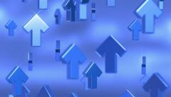 Blue Arrows Going Up Stock Footage