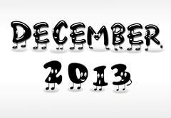 December 2013. Stock Illustration