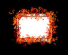 burn frame. - stock illustration