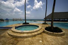 republica dominicana pool tree palm  peace - stock photo