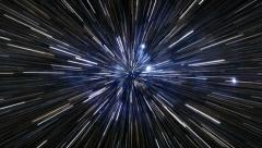 Star Field Warp/Hyperspace (loop) Stock Footage