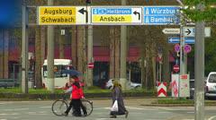 Nuremberg traffic Autobahn Expressway highway Stock Footage