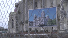 Christchurch Earthquake damage 9 Stock Footage