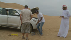 Emirates Tours 4 wheel drive in desert. (12) Stock Footage