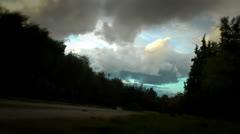Landscape before rain Stock Footage