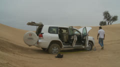 Emirates Tours 4 wheel drive in desert. (13) Stock Footage