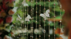 Butterfly on a Wedding Arch Stock Footage