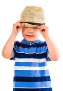 boy and hat - stock photo