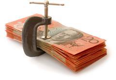 Money clamp Stock Photos