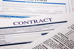 Contract form Stock Photos