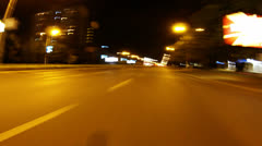 Night city drive Stock Footage