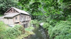 Stock Video Footage of Historic Cedar Creek Grist Mill in Woodland Washington 1080p
