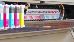 Hd: wide format printer plotter Stock Footage