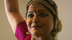 Following the movements of an Indian dancer Stock Footage