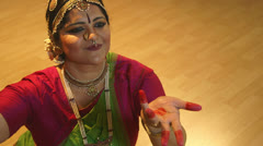 Indian dancer focus on hand movements Stock Footage