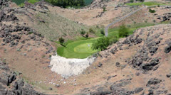Golf course Twin Falls Idaho Snake River gorge HD 8049 Stock Footage