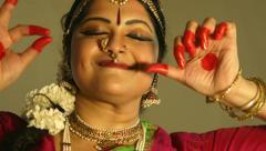 Closeup of an Indian dancer Stock Footage