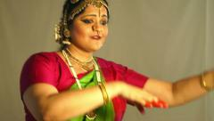 Traditional Indian dancer Stock Footage