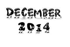December 2014. Stock Illustration