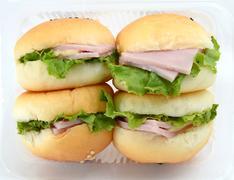 mini hamburgers - stock photo