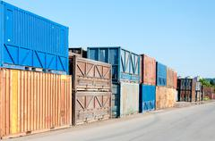 Old container Stock Photos