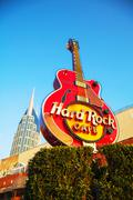 Hard rock cafe sign in nashville Stock Photos
