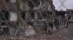 Christchurch Earthquake damage 21 Stock Footage