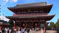 Asakusa Temple 1 - Tokyo, Japan. Religion, buddhism Stock Footage